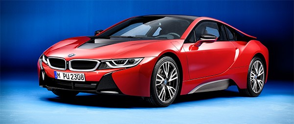 BMW i8 Speicial Edition in Rot